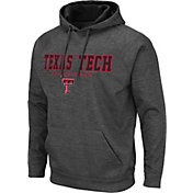 Colosseum Men's Texas Tech Red Raiders Grey Pullover Hoodie