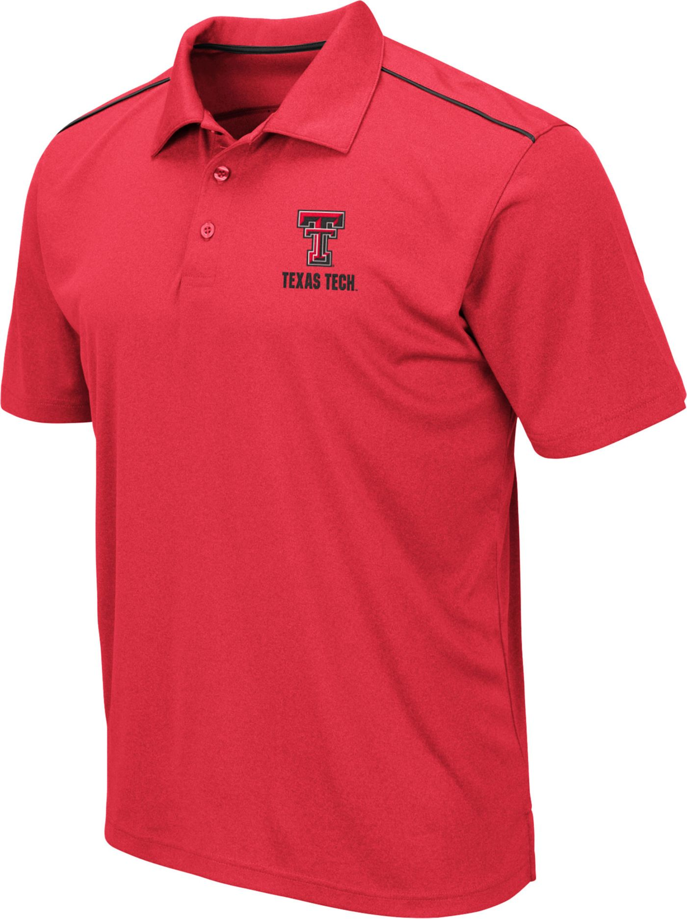 Colosseum Men's Texas Tech Red Raiders Red Eagle Polo