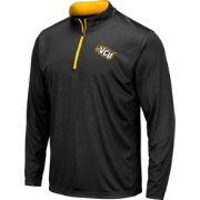 Colosseum Men's VCU Rams Embossed Quarter-Zip Performance Black Shirt