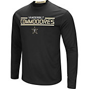 Colosseum Men's Vanderbilt Commodores Long Sleeve Performance Black T-Shirt
