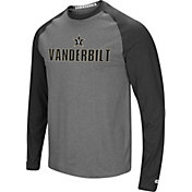 Colosseum Men's Vanderbilt Commodores Grey/Black Social Skills Long Sleeve Raglan T-Shirt