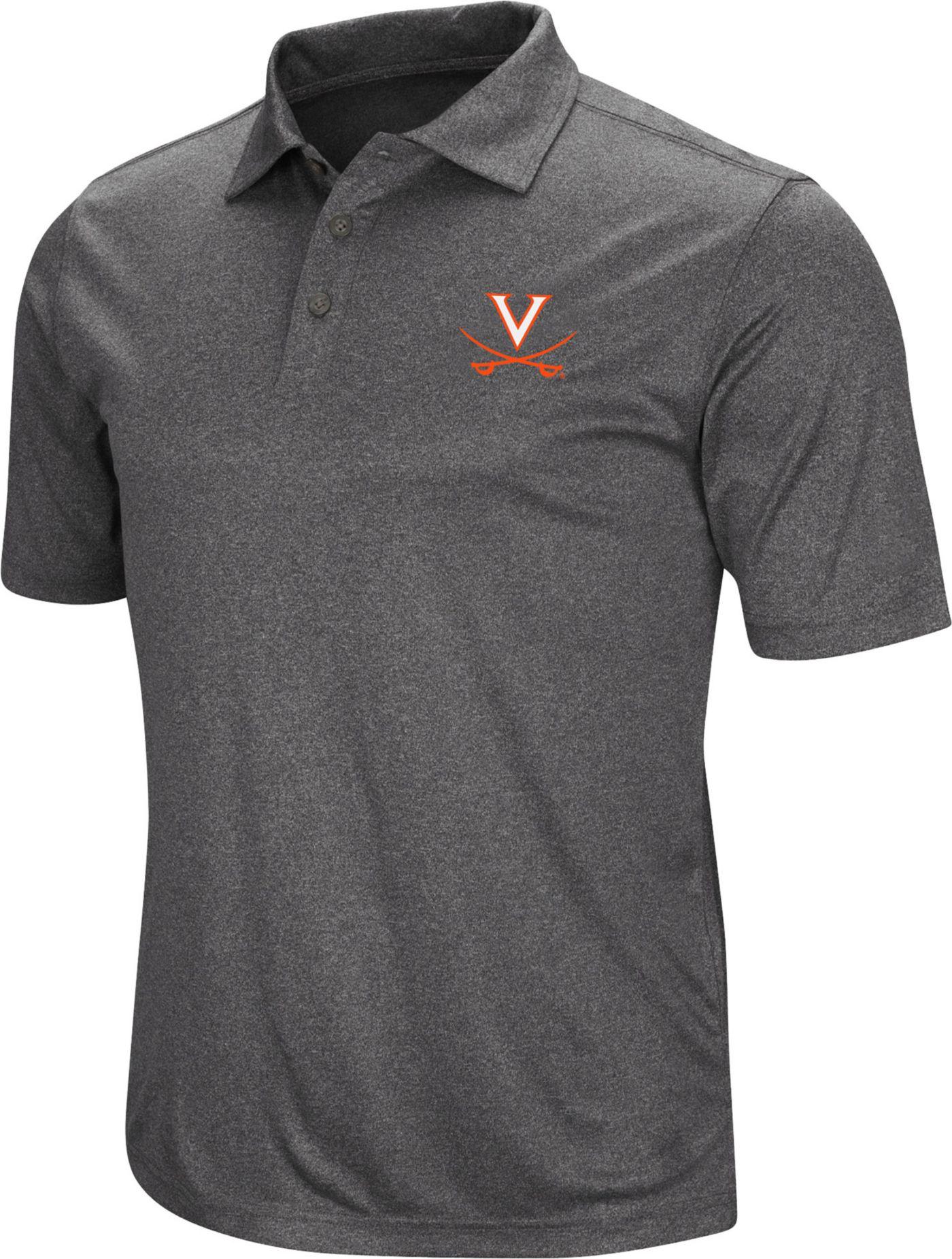 Colosseum Men's Virginia Cavaliers Grey Polo