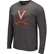 Colosseum Men's Virginia Tech Hokies Grey Long Sleeve T-Shirt