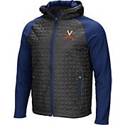 Colosseum Men's Virginia Cavaliers Grey/Blue Baseplate Full-Zip Jacket
