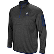 Colosseum Men's Virginia Cavaliers Grey Amnesia Quarter-Zip Shirt
