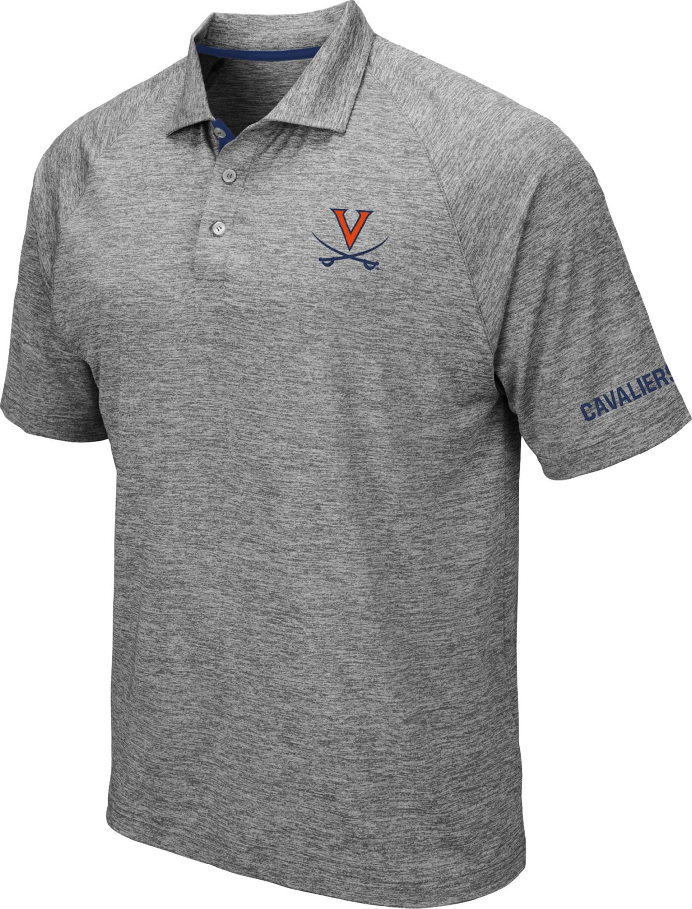 Colosseum Men's Virginia Cavaliers Grey Chip Shot Polo