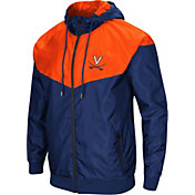 Colosseum Men's Virginia Cavaliers Blue/Orange Galivanting Full Zip Jacket