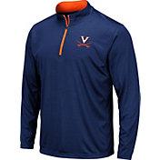 Colosseum Men's Virginia Cavaliers Blue Embossed Quarter-Zip Performance Shirt