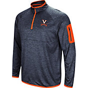 Colosseum Men's Virginia Cavaliers Blue Amnesia Quarter-Zip Shirt