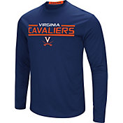 Colosseum Men's Virginia Cavaliers Blue Long Sleeve Performance T-Shirt
