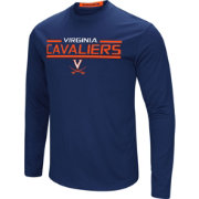 Colosseum Men's Virginia Cavaliers Blue Long Sleeve Performance T-Shirt