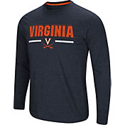 Colosseum Men's Virginia Cavaliers Blue Touchdown Long Sleeve T-Shirt
