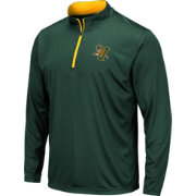 Colosseum Men's Vermont Catamounts Green Embossed Quarter-Zip Performance Shirt