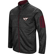 Colosseum Men's Virginia Tech Hokies Glacier Full-Zip Black Jacket