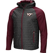 Colosseum Men's Virginia Tech Hokies Grey/Maroon Baseplate Full-Zip Jacket