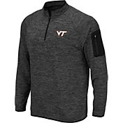Colosseum Men's Virginia Tech Hokies Grey Quarter-Zip Shirt