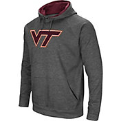 Colosseum Men's Virginia Tech Hokies Grey Fleece Pullover Hoodie