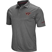 Colosseum Men's Virginia Tech Hokies Grey Cut Shot Polo