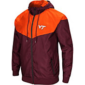 Colosseum Men's Virginia Tech Hokies Maroon/Burnt Orange Galivanting Full Zip Jacket