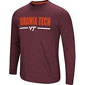 Colosseum Men's Virginia Tech Hokies Maroon Touchdown Long Sleeve T-Shirt