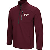 Colosseum Men's Virginia Tech Hokies Maroon Townie Half-Zip Jacket