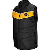 Colosseum Men's Iowa Hawkeyes Red Beaulieu Full-Zip Black Vest