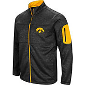 Colosseum Men's Iowa Hawkeyes Glacier Full-Zip Black Jacket