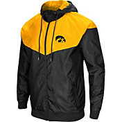 Colosseum Men's Iowa Hawkeyes Black/Gold Galivanting Full Zip Jacket