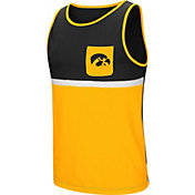 Colosseum Men's Iowa Hawkeyes Black/Gold Lollygaggers Tank Top