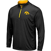 Colosseum Men's Iowa Hawkeyes Embossed Quarter-Zip Performance Black Shirt