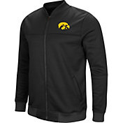 Colosseum Men's Iowa Hawkeyes Sack The QB Full-Zip Bomber Black Jacket