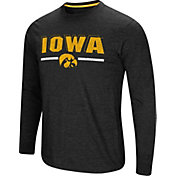 Colosseum Men's Iowa Hawkeyes Touchdown Long Sleeve Black T-Shirt