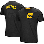Colosseum Men's Iowa Hawkeyes Black Voodoo Pocket T-Shirt