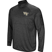 Colosseum Men's Wake Forest Demon Deacons Grey Amnesia Quarter-Zip Shirt