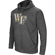 Colosseum Men's Wake Forest Demon Deacons Grey Fleece Pullover Hoodie