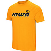 Colosseum Men's Iowa Hawkeyes Gold Brushed Performance T-Shirt