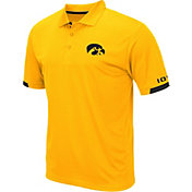 Colosseum Men's Iowa Hawkeyes Gold Fairway Polo