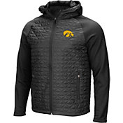 Colosseum Men's Iowa Hawkeyes Grey/Black Baseplate Full-Zip Jacket