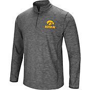Colosseum Men's Iowa Hawkeyes Grey Quarter-Zip Shirt