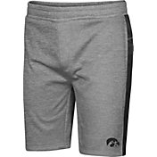 Colosseum Men's Iowa Hawkeyes Grey Take A Knee Fleece Shorts