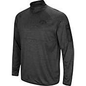 Colosseum Men's Iowa Hawkeyes Grey Amnesia Quarter-Zip Shirt