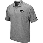 Colosseum Men's Iowa Hawkeyes Grey Chip Shot Polo