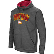 Colosseum Men's Winthrop Eagles Grey Fleece Pullover Hoodie