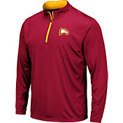 Colosseum Men's Winthrop  Eagles Garnet Embossed Quarter-Zip Performance Shirt