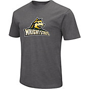 Colosseum Men's Wright State Raiders Grey Dual Blend T-Shirt