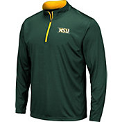 Colosseum Men's Wright State Raiders Green Embossed Quarter-Zip Performance Shirt