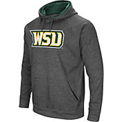 Colosseum Men's Wright State Raiders Grey Fleece Pullover Hoodie
