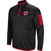 Colosseum Men's Wisconsin Badgers Amnesia Quarter-Zip Black Shirt