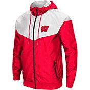 Colosseum Men's Wisconsin Badgers Red/White Galivanting Full Zip Jacket