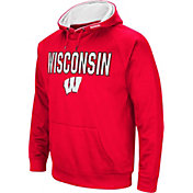 Colosseum Men's Wisconsin Badgers Red Fleece Pullover Hoodie